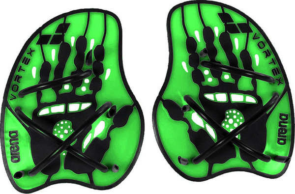 Arena Vortex evolution hand paddles - lime